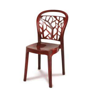 Akij Elegant Sleek Rose Wood Chair