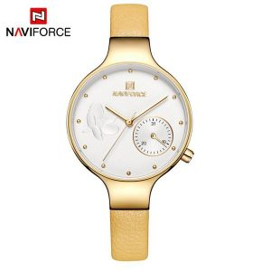 Naviforce Quartz Women Watch Golden