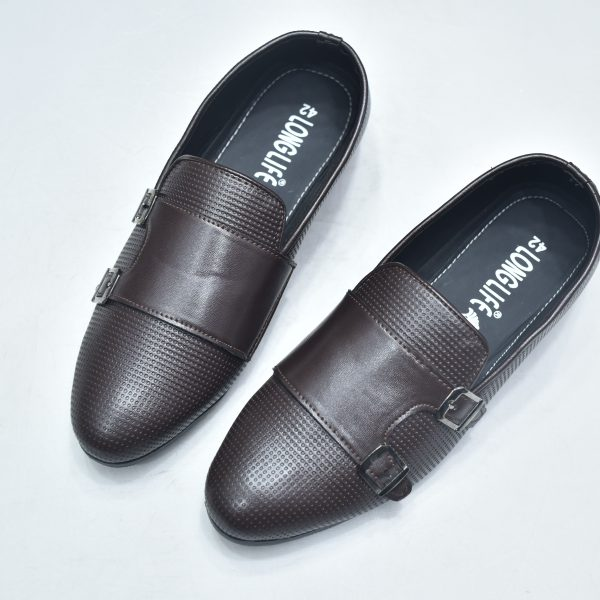 Premium Casual & Party Leather Shoe For Men Chocolate