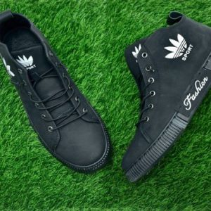 Stylish & Comfortable Leather Converse For Men - Black