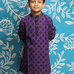 Kid's Panjabi Payjama Set - KPL 01 - Purple