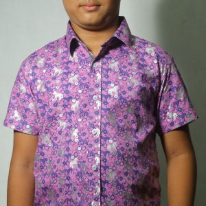 Kid's Half Sleeve Shirt - Violet - BS118 - 44018