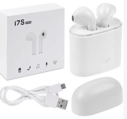 i7s TWS Bluetooth Stereo In-Ear Earbuds with Charging Box - WLB
