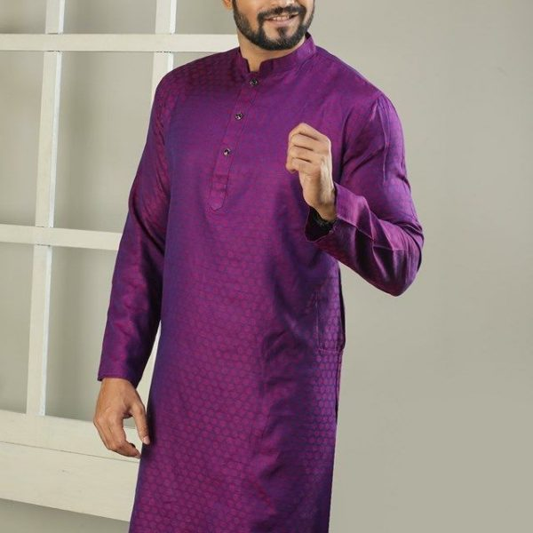 Cotton Punjabi (Purple)
